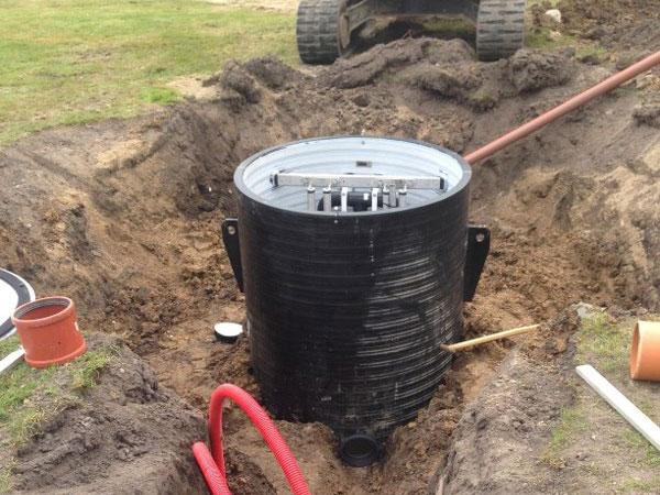 Kloakering – separatkloakering af regn-og spildevand af PA Underboring – Entreprenør Per Andersen