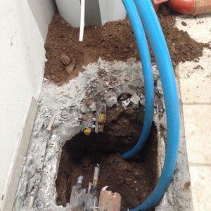 Styret underboring er løsningen hvis der skal graves vandledninger. Lavet af PA underboring - Entreprenør Per Andersen