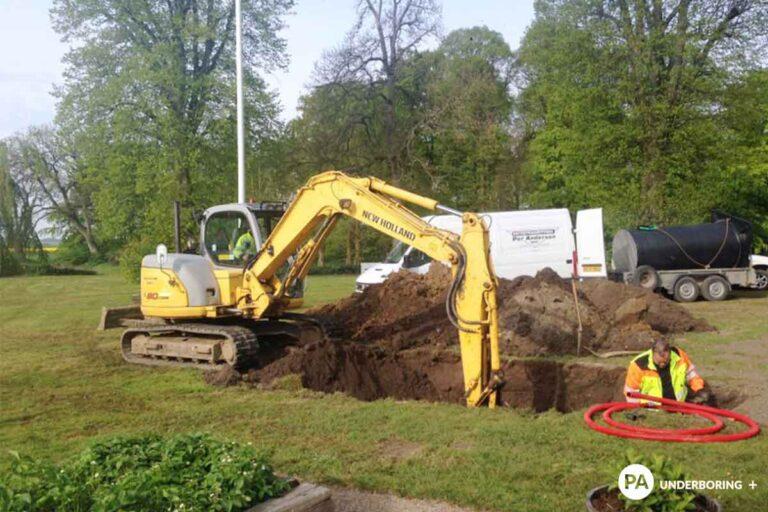 Kloakering. Anlæg eller renovering af kloak, nedsivningsanlæg, biologisk minirenseanlæg eller et pileanlæg af PA Underboring